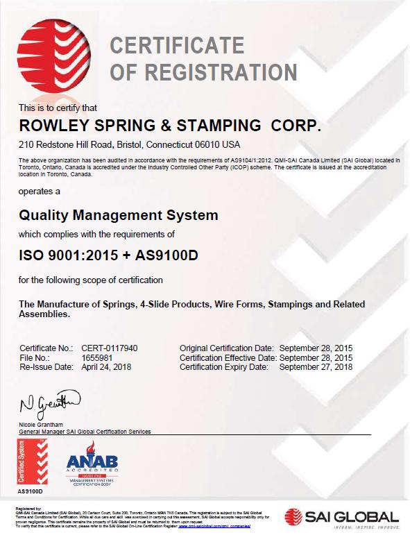 ISO 9001 AS9100 Rev D